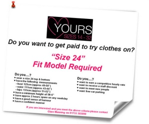 Yours needs a new fit model! Could it be you?