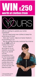 The Yours Clothing Competition: Win £250 worth of clothes!