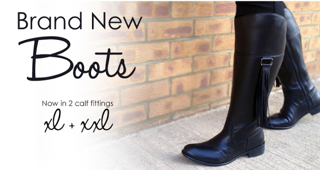 Yours Clothing new wide fitting boots now available.