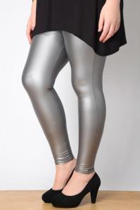 grey disco leggings
