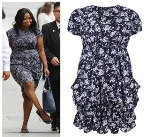 octavia spencer and navy dress