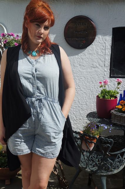 emma in denim playsuit 2