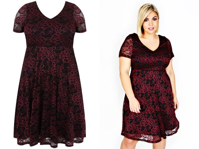 2.Lace-Skater-Dress