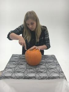 Step 1 - Cut into your pumpkin