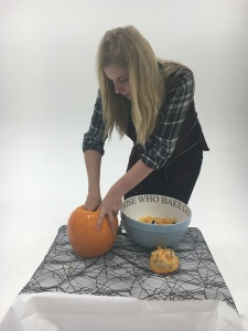 Step 2 - Scoop out your pumpkin