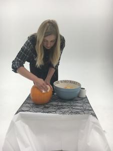 Step 4 - Clean your celeb pumpkin down