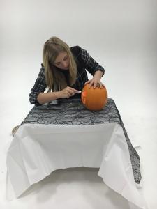 Step 8 - Begin carving carefully