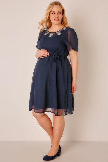 Maternity plus size bridesmaid dress