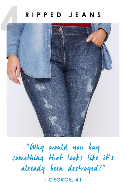 plus size denim ripped skinny jeans