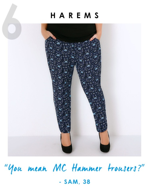 plus size harems trousers