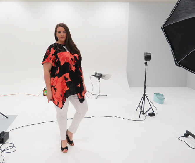 Plus size model bts photo shoot