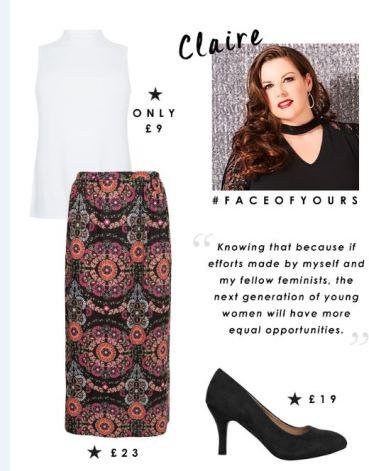 plus size model, fashion blogger, international womens day