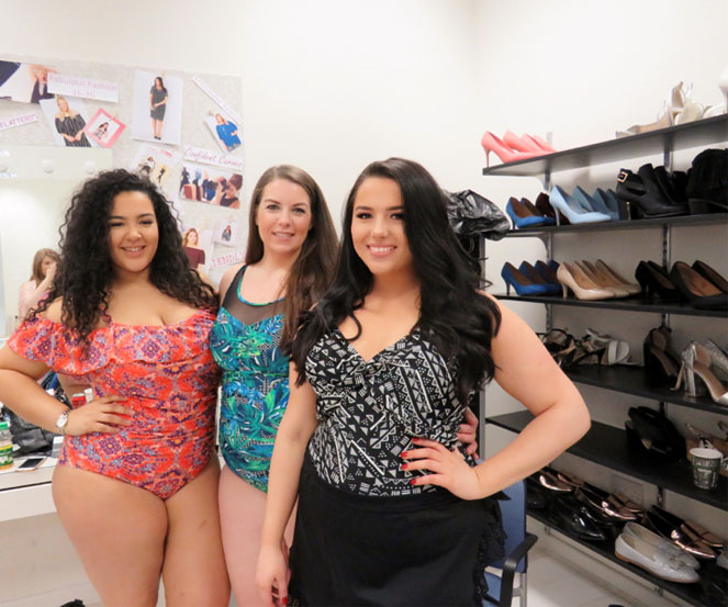 Plus size models in swimwear