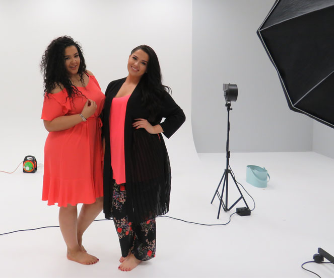 Plus size models bts shoot