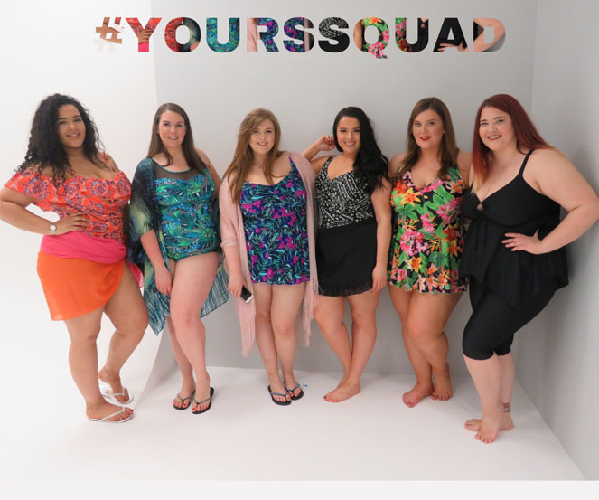 Plus size models swimwear