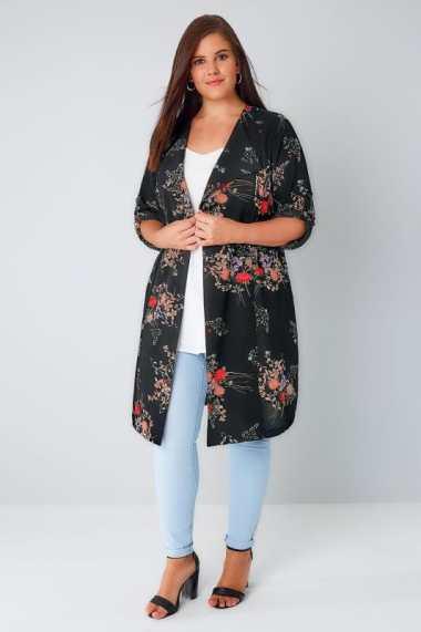 black floral jacket