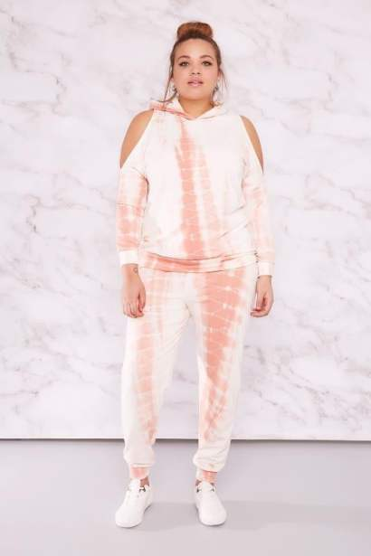 tie dye cold shoulder lounge wear