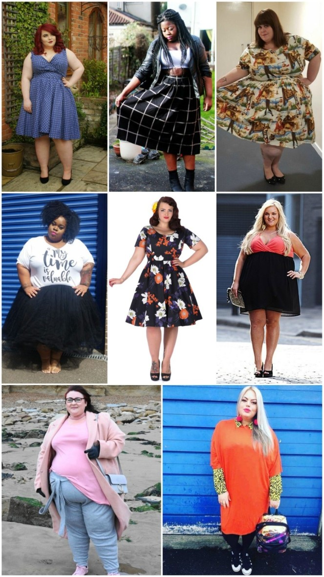 All body shapes and sizes influencers