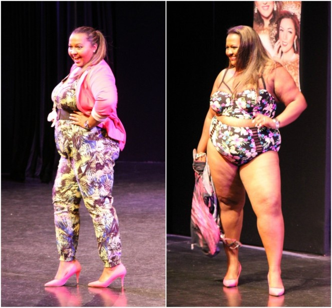 Kat Henry at miss british beauty curve competition