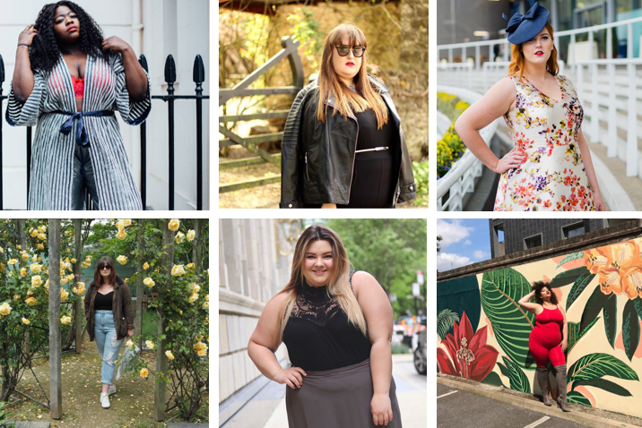 Our five bloggers reveal their plus-size idols and curvy inspirations of 2017