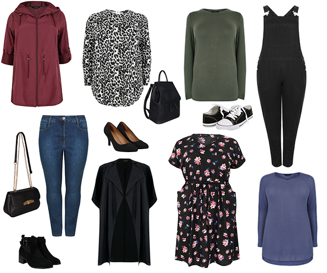 plus size curve capsule wardrobe for autumn