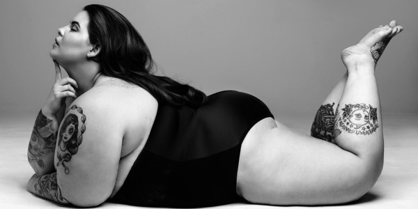 Tess Holliday, girl, plus size, book, the not so subtle art of being a fat girl, tattoos, swimwear