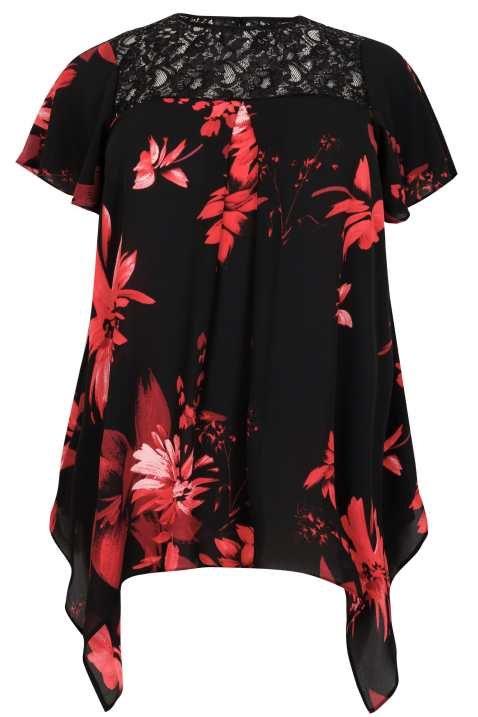 Black_Deep_Red_Floral_Print_Blouse_With_Lace_Sequin_Yoke_130191_3932