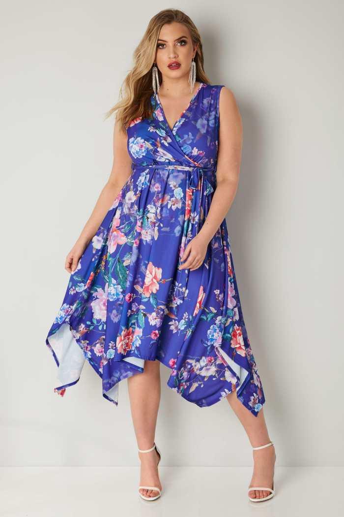 YOURS_LONDON_Blue_Multi_Floral_Wrap_Dress_With_Hanky_Hem_156436_0b45