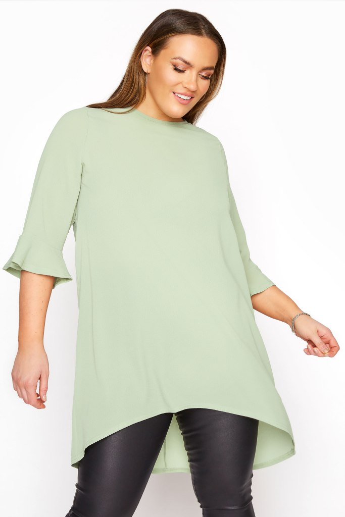 How To Dress A Pear Shaped Body Plus Size Flute Sleeve Top Yours Clothing