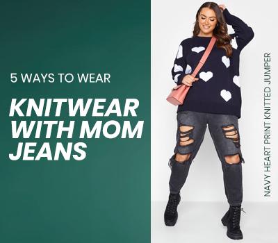 5  Ways To Wear Knitwear With Mom Jeans