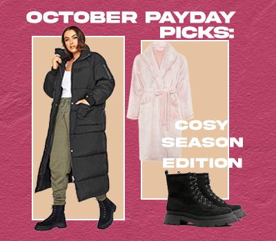 October Payday Picks: Cosy Season Edition